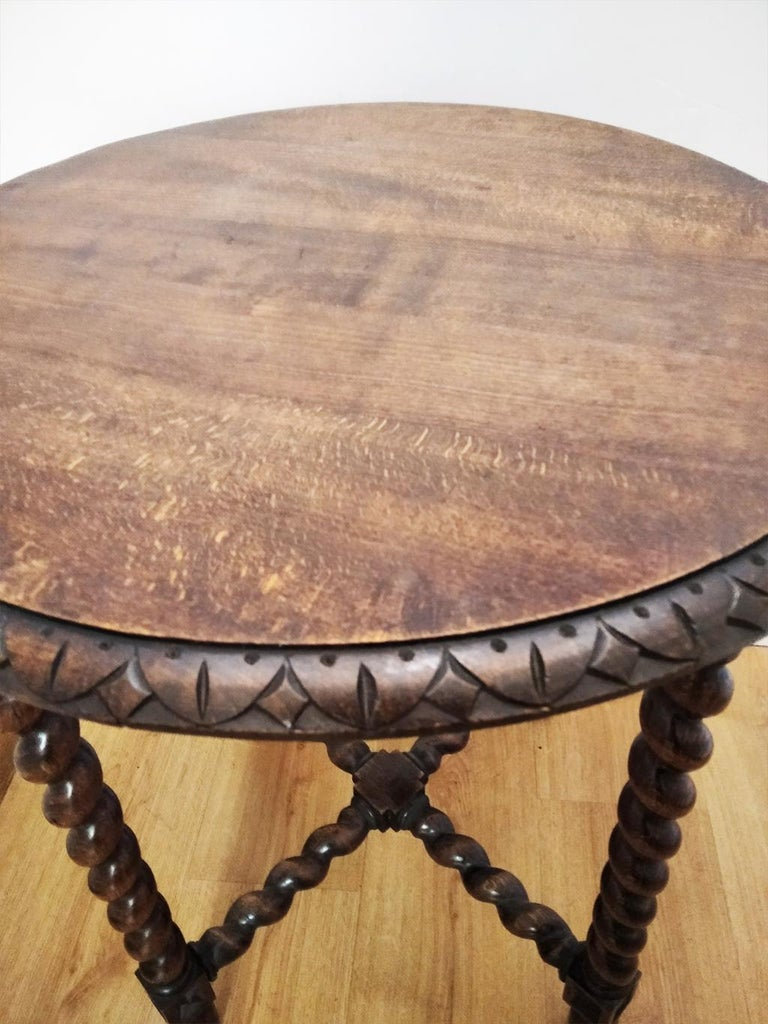 Large End Table Barley Twist Legs, Spain, 19th Century For Sale 5