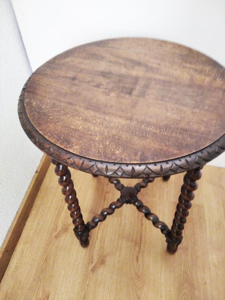 Large End Table Barley Twist Legs, Spain, 19th Century For Sale 6