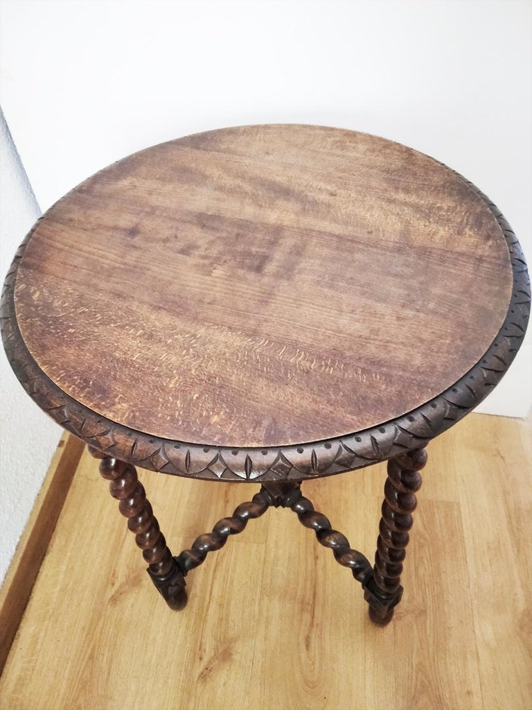 Large End Table Barley Twist Legs, Spain, 19th Century For Sale 10