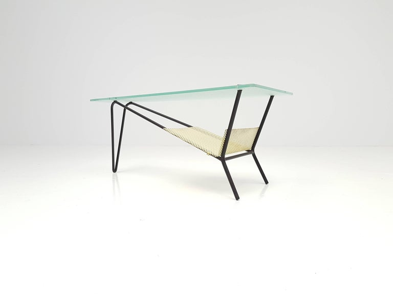Brass End Table by Robert Mathieu, France, circa 1955 For Sale