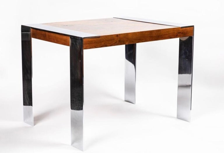 Mid-Century Modern End Table in the Style of Milo Baughman For Sale