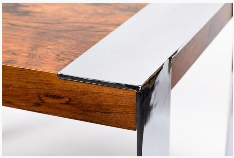 American End Table in the Style of Milo Baughman For Sale