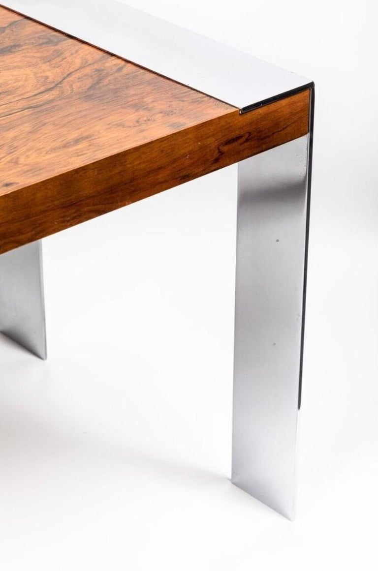 End Table in the Style of Milo Baughman In Excellent Condition For Sale In LOS ANGELES, CA