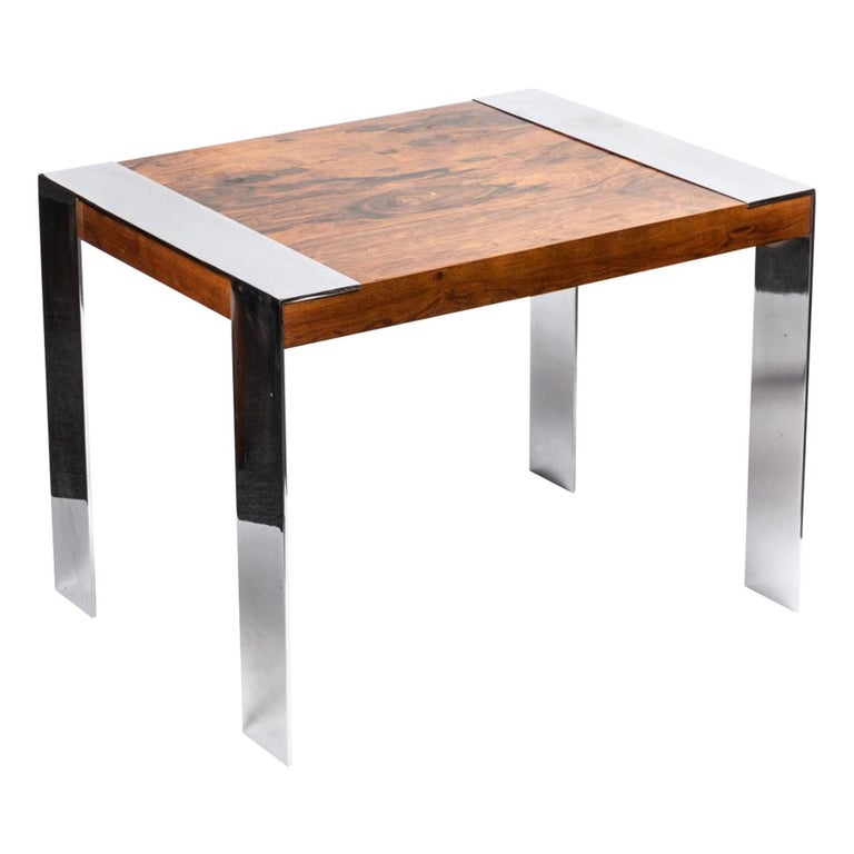 End Table in the Style of Milo Baughman For Sale