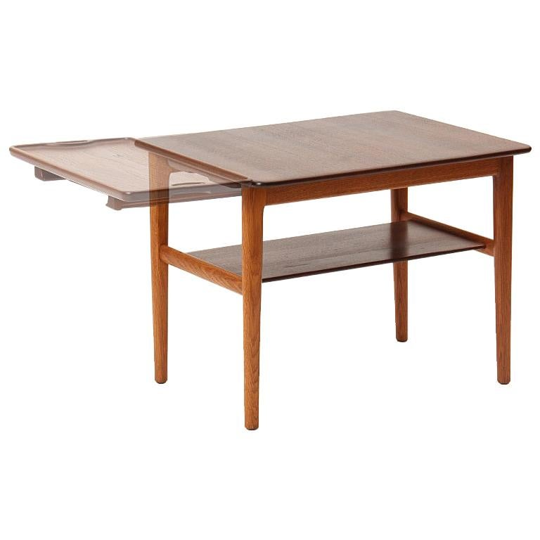 End Table with Tray by Hans J. Wegner