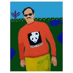 'Endangered Species' Portrait Painting by Alan Fears Pop Art Panda