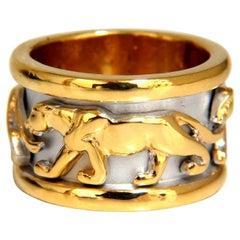 Endless Panther Eternity Ring 14 Karat
