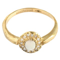 Engagement Ring in 18 Carat Yellow Gold and White Diamonds from IOSSELLIANI