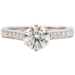 James Allen 1.17 Ct Diamond Engagement Ring Ideal Cut Round 18K White Gold AGS