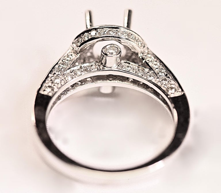 Contemporary Engagement Ring with Diamonds For Sale