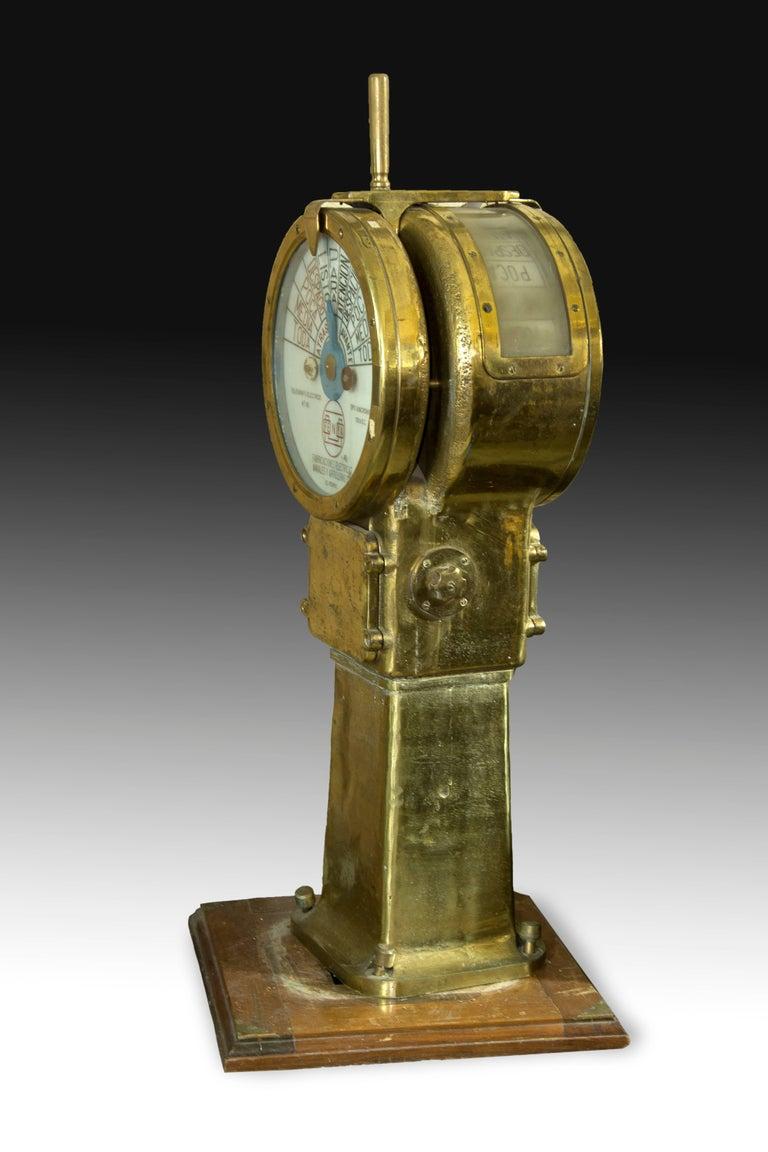 Modern Engine Order Telegraph. Fenya, Ferrol, Spain, circa Mid-20th Century For Sale