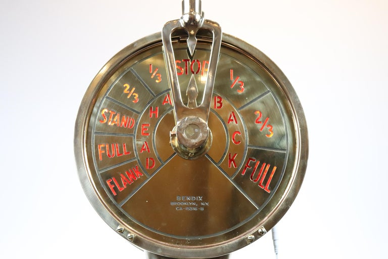 Engine Order Telegraph In Good Condition For Sale In Norwell, MA
