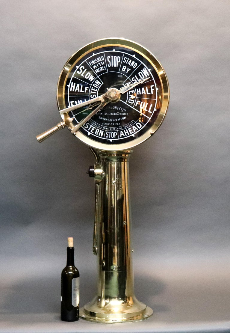 Engine Room Telegraph: Engine Room Telegraph By A. Robinson For Sale At 1stdibs