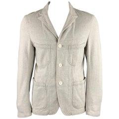 ENGINEERED GARMENTS 40 Cotton Light Gray Patch Pocket Jacket