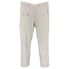 ENGINEERED GARMENTS Size 32 Blue & White Stripe Seersucker Zip Fly Casual Pants