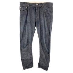 ENGINEERED GARMENTS Size 32 Indigo Contrast Stitch Cotton Zip Fly Jeans