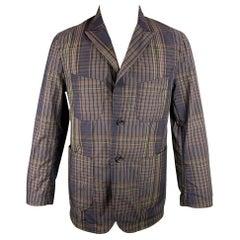ENGINEERED GARMENTS Size M Brown & Olive Plaid Cotton / Nylon Sport Coat