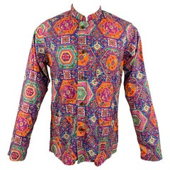 ENGINEERED GARMENTS Size M Multi-Color Print Cotton Long Sleeve Shirt
