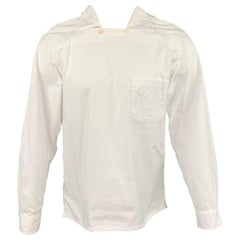 ENGINEERED GARMENTS Size M White Cotton Long Sleeve Shirt
