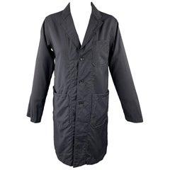 ENGINEERED GARMENTS Size S Black Wool Notch Lapel Coat