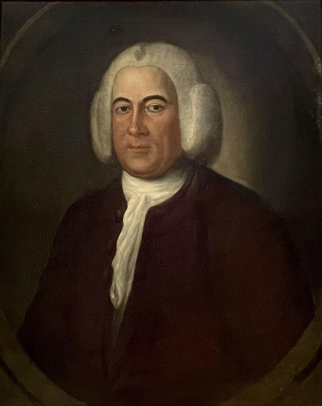 Fine 1730's English Portrait of a Country Squire Gentleman Large Oil Painting