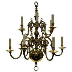 English 17th Century Style Brass Chandelier