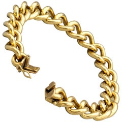 English 18 Karat Gold Large Link Bracelet