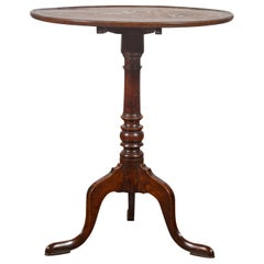 English 1870s Tilt-Top Oak Gueridon Pedestal Table with Tripod Base