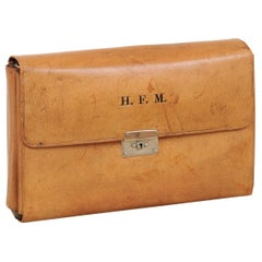 English 1870s Victorian Period Leather Men's Travel Kit with H.F.M Monogram