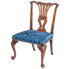 English 18th Century Chippendale Mahogany Chair from Hinton House