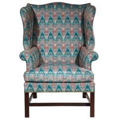 English 18th Century Chippendale Period Mahogany Wing Chair