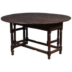 English 18th Century Drop-Leaf Table in Oak