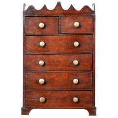 English 18th Century George II Style Apprentice Chest