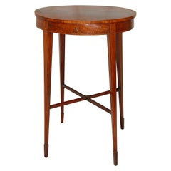 English 18th Century Georgian Hepplewhite Oval Mahogany Sewing Table