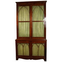 English 18th Century Gothic Revival Display Cabinet