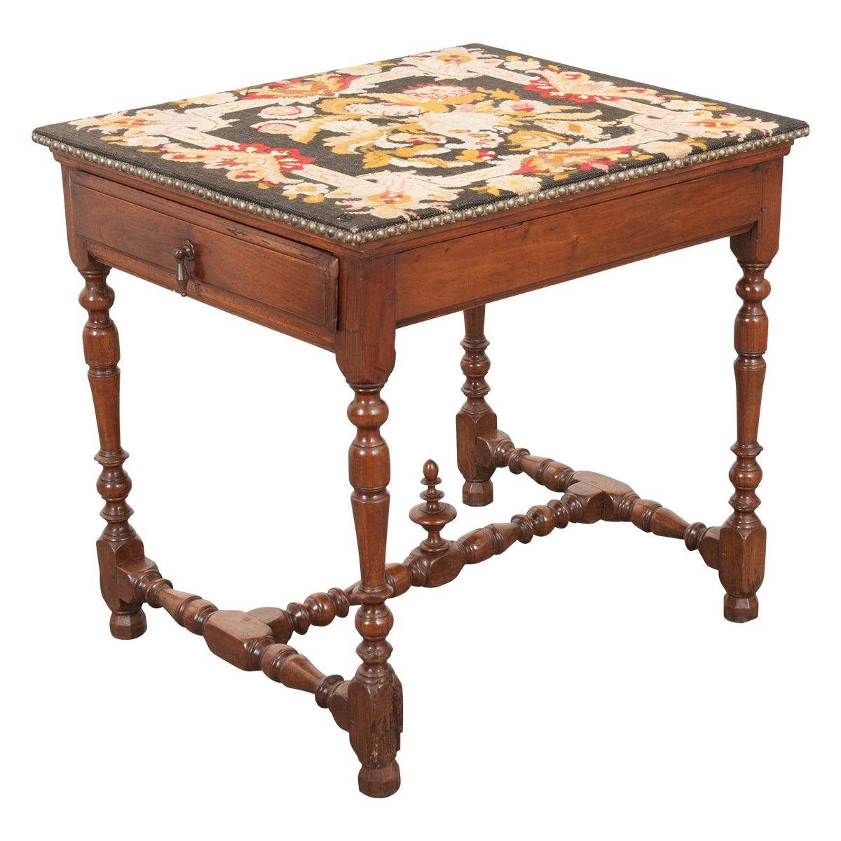 English 18th Century Jacobean-Style Oak Side Table