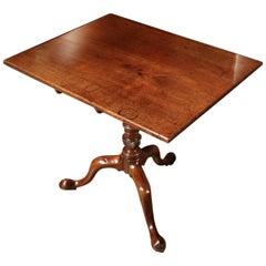 English 18th Century Mahogany Tilt-Top Table