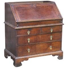 English 18th Century Oak Bureaux in Original Condition