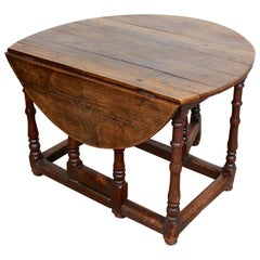 English 18th Century Oak Gateleg Dining Table