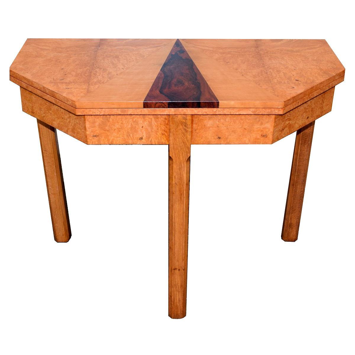 English 1930s Art Deco Console /Breakfast Table