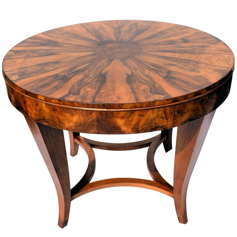 English 1930s Art Deco Large Walnut Centre or Dining Table