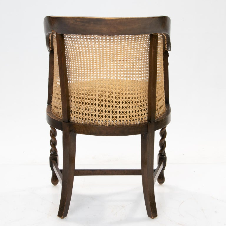 Elizabethan English 19th Century Barrel Back Armchair For Sale