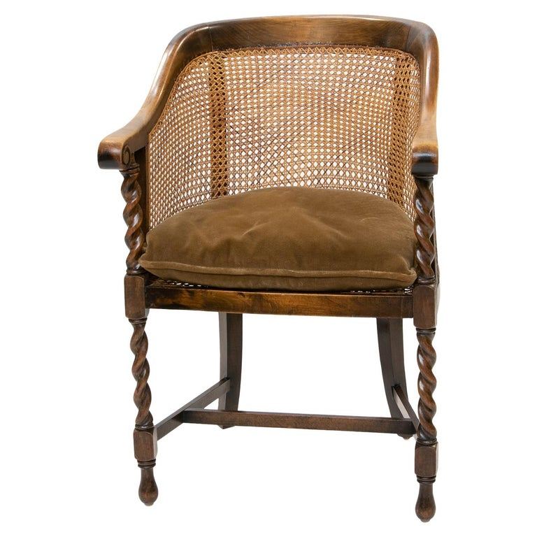 English 19th Century Barrel Back Armchair For Sale