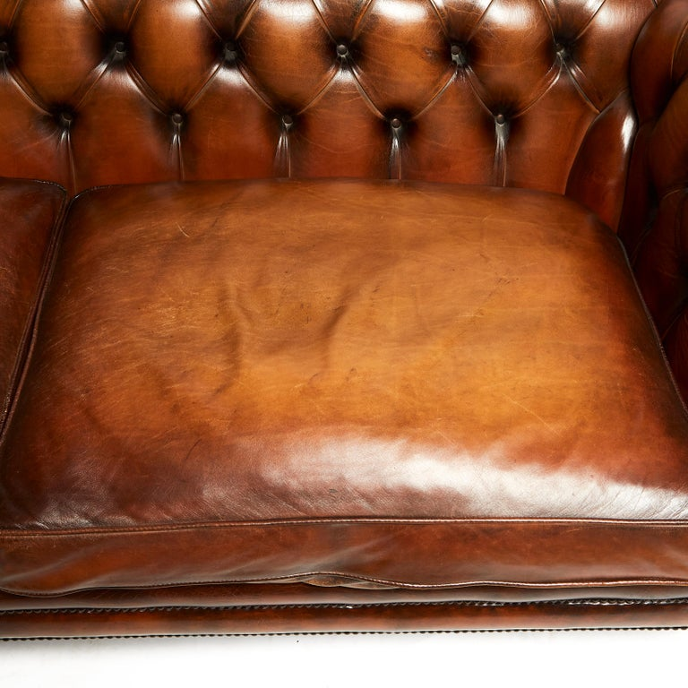 Contemporary English 19th Century Style Chesterfield Sofa For Sale