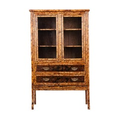 English 19th Century Aesthetic Bamboo Bookcase