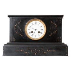 English 19th Century Aesthetic Movement Marble Mantel Clock