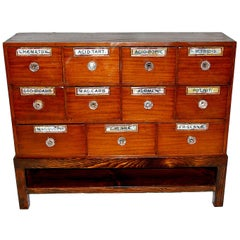English 19th Century Apothecary Chest in Mahogany and Pine Now on Bespoke Stand