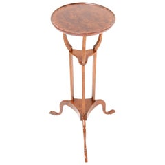 English 19th Century Burl and Walnut Tripod Occasional Table