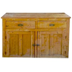 English 19th Century Dresser with Two Doors, Two Drawers and One Shelf