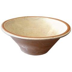 English 19th Century Earthenware Pancheon Bowl